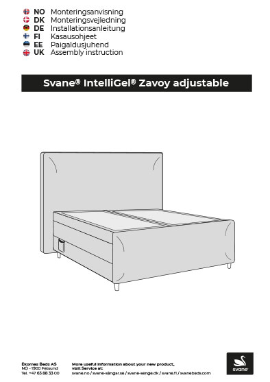 Svane IntelliGel Zavoy montering